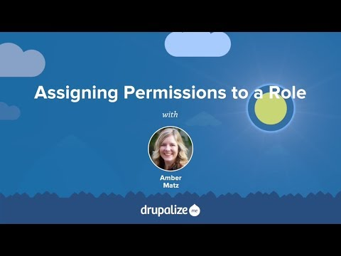 Drupal 8 User Guide: 7.5. Assigning Permissions to a Role