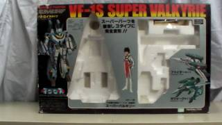 One of the first transforming robots ever, this is Takatoku toys VF-1S Super Valkyrie from Macross. A marvelous piece of engineering for 1982. It is a 1/55 scale ...