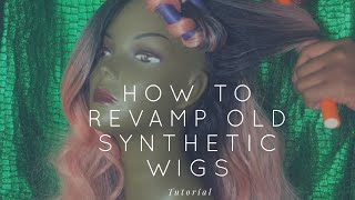 Money Manes | How To Revamp OLD Synthetic Wigs