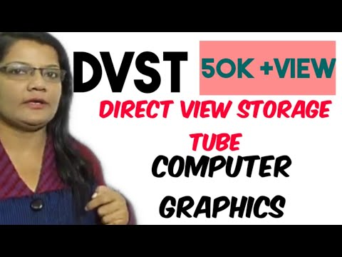 Direct View Storage (DVST) in Hindi Computer Graphics