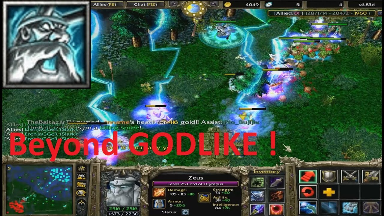 DotA 683d Zeus Beyond GODLIKE 2 A Lot Of Kills