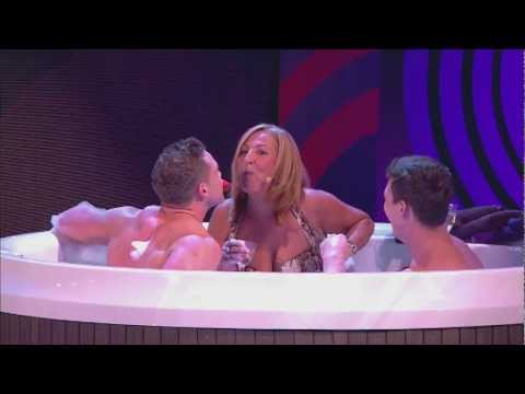 Joe Swash's Mum and A Naked Kieran Hayler in the Hot Tub