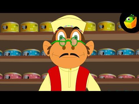 Ek Bandar Ne Kholi Dukan - Hindi Animated/Cartoon Nursery Rhymes For Kids