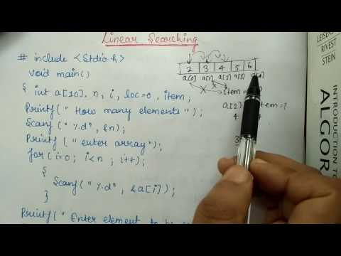 Linear Search- HINDI- || DATA STRUCTURES