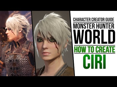 Monster Hunter World How To Create Ciri From The Witcher