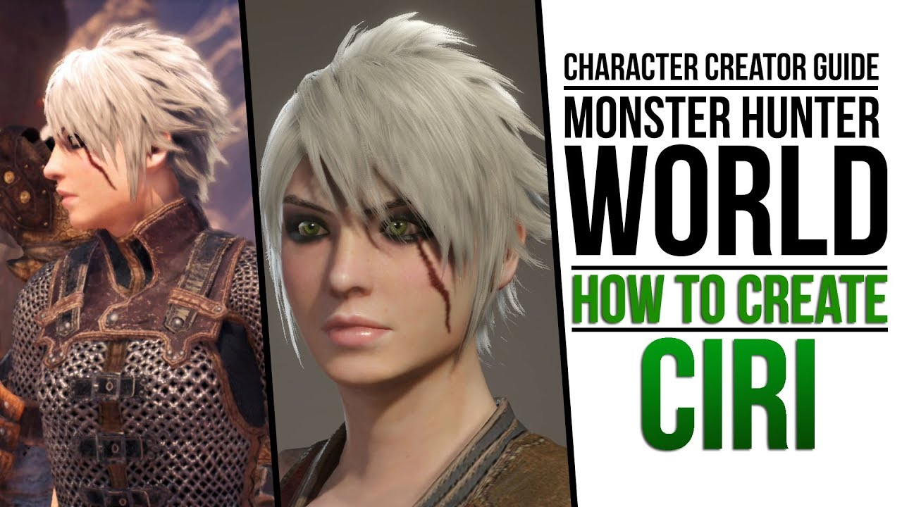 Monster Hunter World Creating Ciri From Witcher 3 Youtube