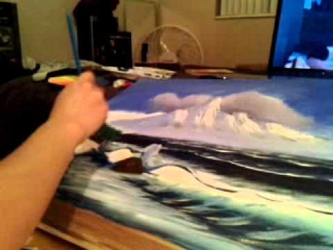 Bob Ross Painting by Maria Torres Part 4