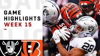 Raiders vs. Bengals Week 15 Highlights | NFL 2018