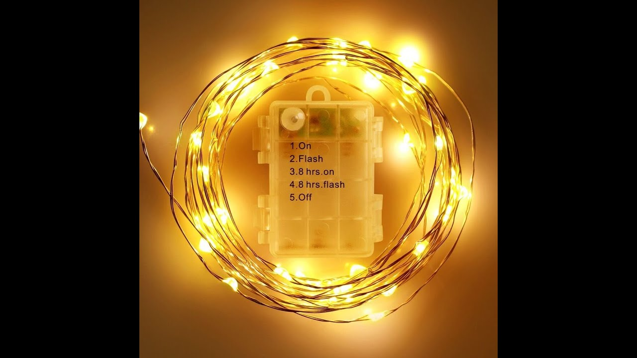 Foxnov waterproof battery operated 50 led fairy string lights 2 foxnov waterproof battery operated 50 led fairy string lights 2 packs youtube mozeypictures Choice Image