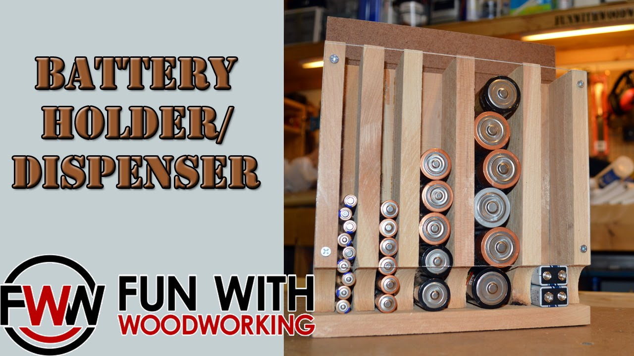 Project how to build the wood magazine battery holderdispenser project how to build the wood magazine battery holderdispenser youtube solutioingenieria Images