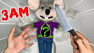 (SCARY) CUTTING OPEN HAUNTED CHUCK E CHEESE DOLL AT 3AM!! *WHAT'S INSIDE HAUNTED DOLL*