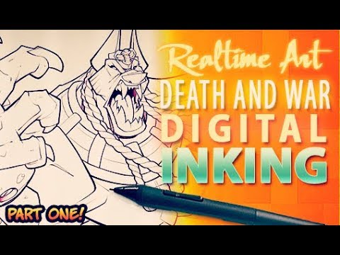 Realtime Art - Death And War Cover - Digi Inks Part 01