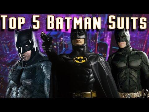 Top 5 Live Action Batman Suits | The Best Live Action Batsuits of All Time!