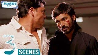 Dhanush Saves Shruti Haasan   3 Telugu Movie Scenes   Sivakarthikeyan   Anirudh   Shemaroo Telugu