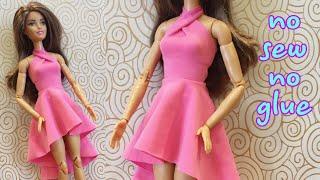 👗Cách làm váy búp bê KHÔNG MAY KHÔNG KEO #DIY #barbie #clothes #dresses #dolls