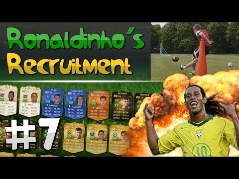FIFA 15 - Ronaldinho's Recruitment | EP. 7 (CORNER KICK RABONA CHALLENGE)