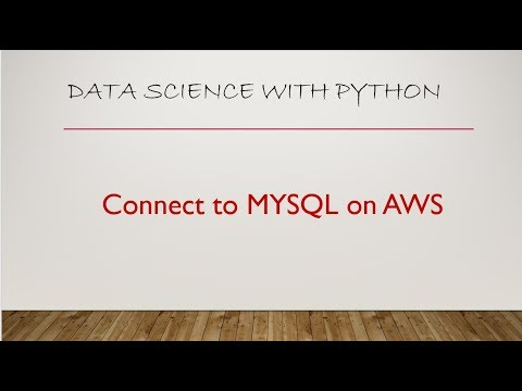 Connect to MYSQL RDS on AWS using Jupyter Notebook