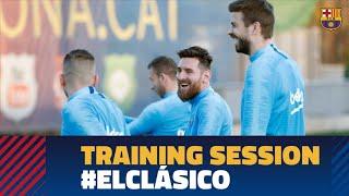 REAL MADRID 0-3 BARÇA | Final training session ahead of El Clásico in the Copa del Rey