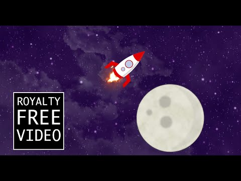 Rocket flying through space - Royalty Free Video