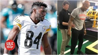 Mike golic, trey wingo and golic jr. analyze the twitter feud between oakland raiders wide receiver antonio brown former teammate current steele...