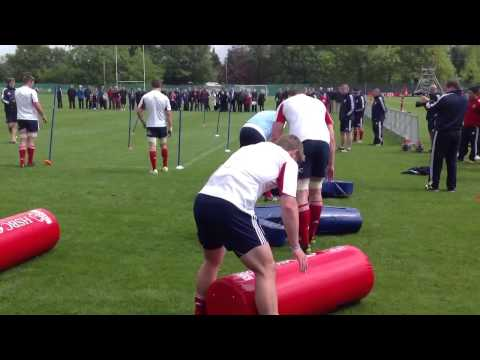 British and Irish lions 2013 training