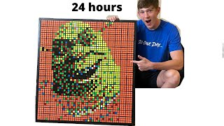 I Made Shrek Out Of Rubik's Cubes