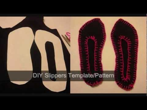 DIY Slippers Pattern/Template - How To Make A Pattern For Slippers