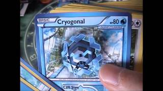Opening a Pokemon Frost Ray Theme Deck