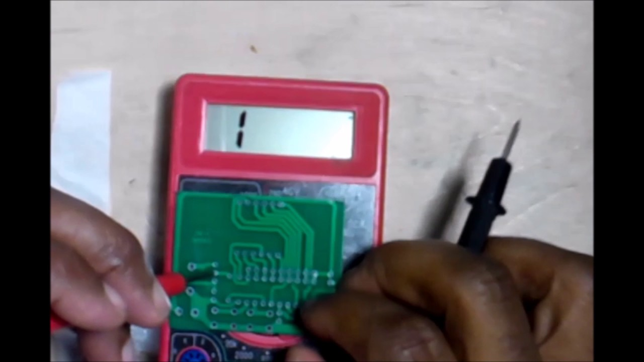 Multimeter Testing Continuity Circuit Board Troubleshooting Easy To Make Your Own Pcb39sprinted Boards Youtube Ebonygeek45