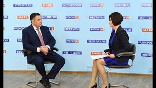 Прямой эфир с губернатором Тверской области Игорем Руденей | Россия 24
