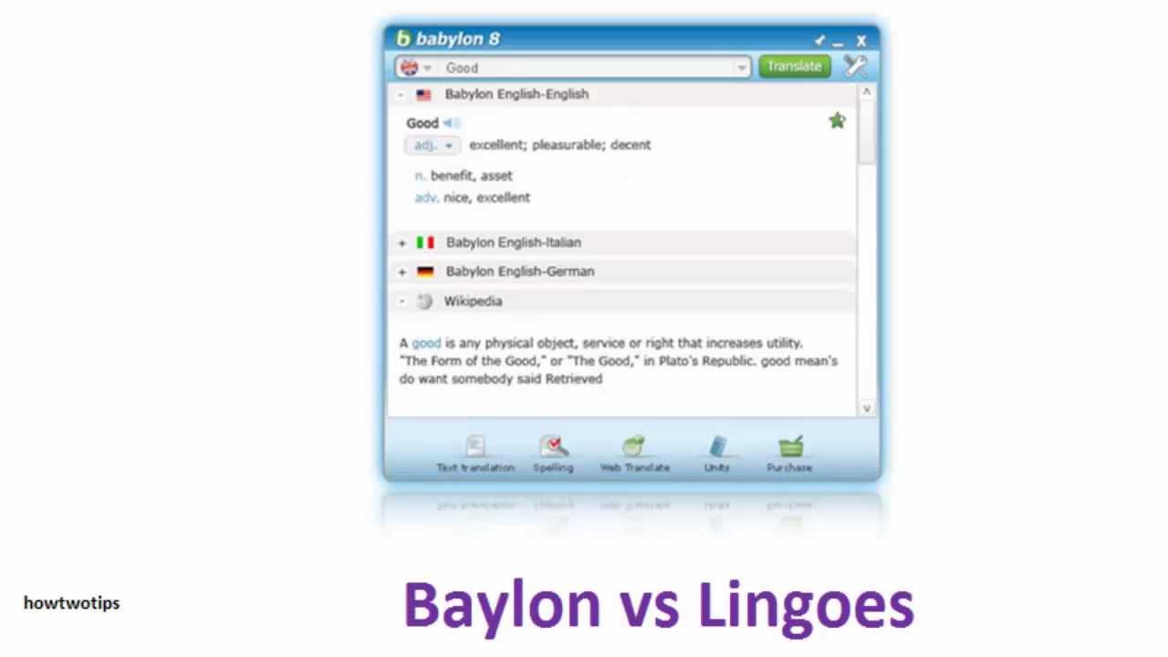 Lingoes vs Babylon, one click dictionaries