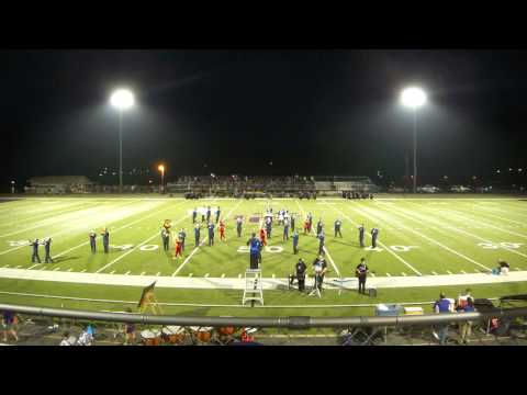 Towns County High School Marching Band Halftime Performance VS Union County 8/31/13