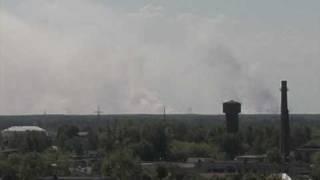 Пожары в Марий Эл - Вид с дома печати - Йошкар-Ола