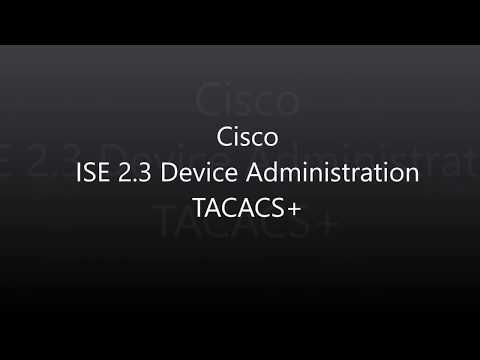 4  ISE 2 3: Device Administration (TACACS+) - YouTube