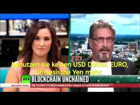 Bitcoin steigt auf 500.000 Dollar bis 2020 - RT Interview John McAfee