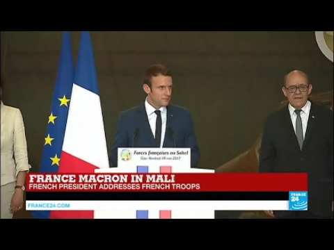 Emmanuel Macron in Mali: French President addresses French Troops