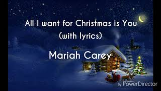 All I Want For Christmas Is You (with lyrics) || Mariah Carey