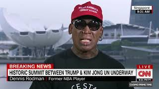 Dennis Rodman gets emotional after Trump Kim summit