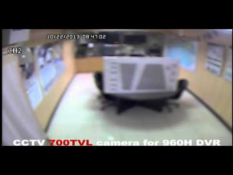 1.3M vs 700TVL video quality comparison working with 960H DVR