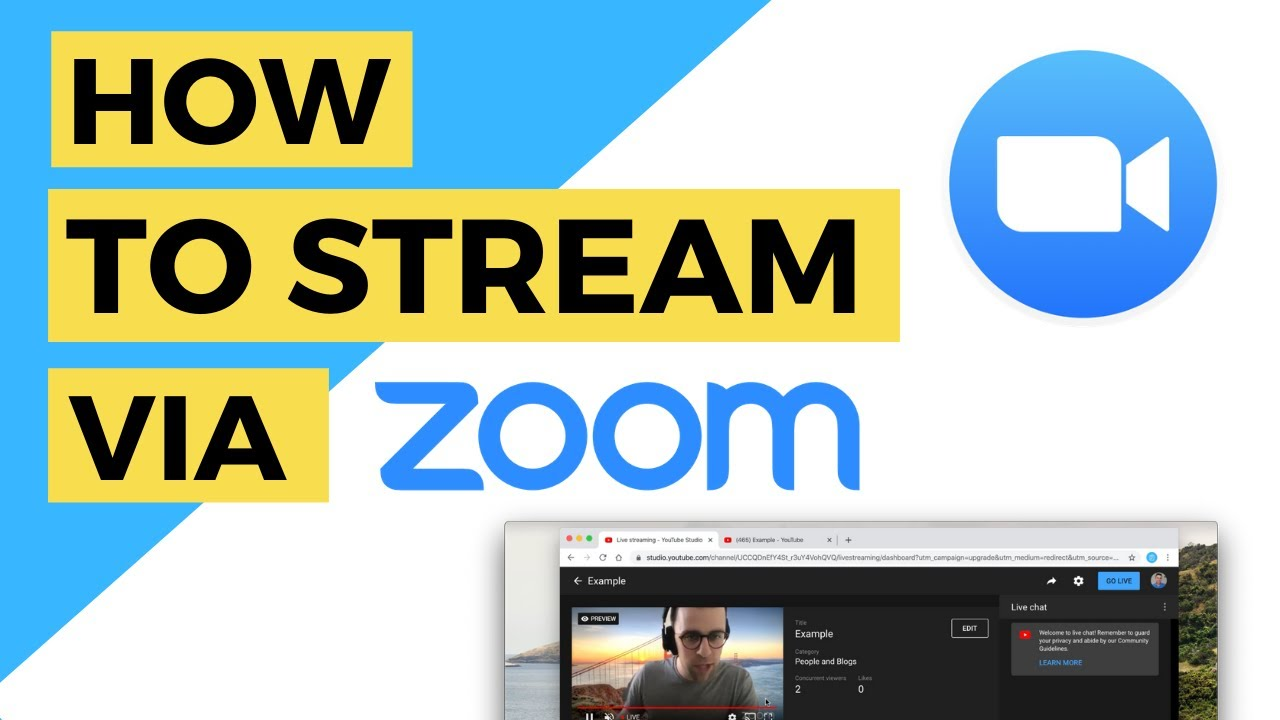 How to Live Stream from Zoom to YouTube
