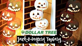 dollar store pumpkin craft