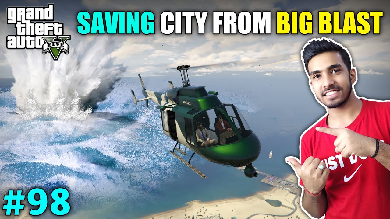 DROPPING A TIME BOMB INTO OCEAN FOR SAVE LOS SANTOS   GTA V GAMEPLAY #98