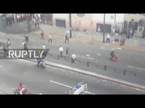 Venezuela: One dead in shooting at Caracas protest referendum