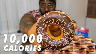 10000 CALORIES CHALLENGE Easy BODYBUILDER VS FOOD  Epic Cheat Day