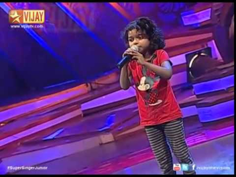 Super Singer Junior   Adi Aathadi By Angeline   YouTube