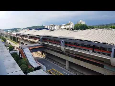 Second train being towed out of Joo Koon station