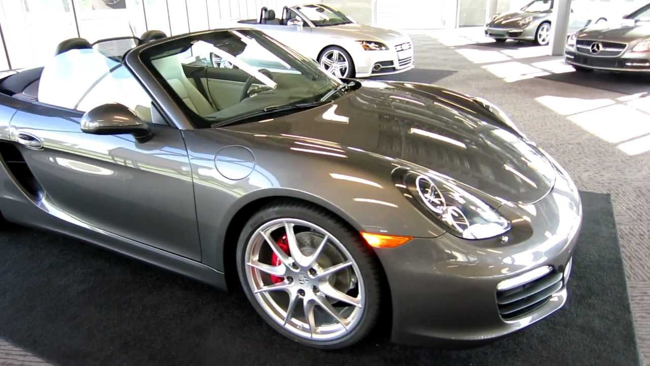 New Porsche 981 Boxster S Walk Around Agate Grey Pebble