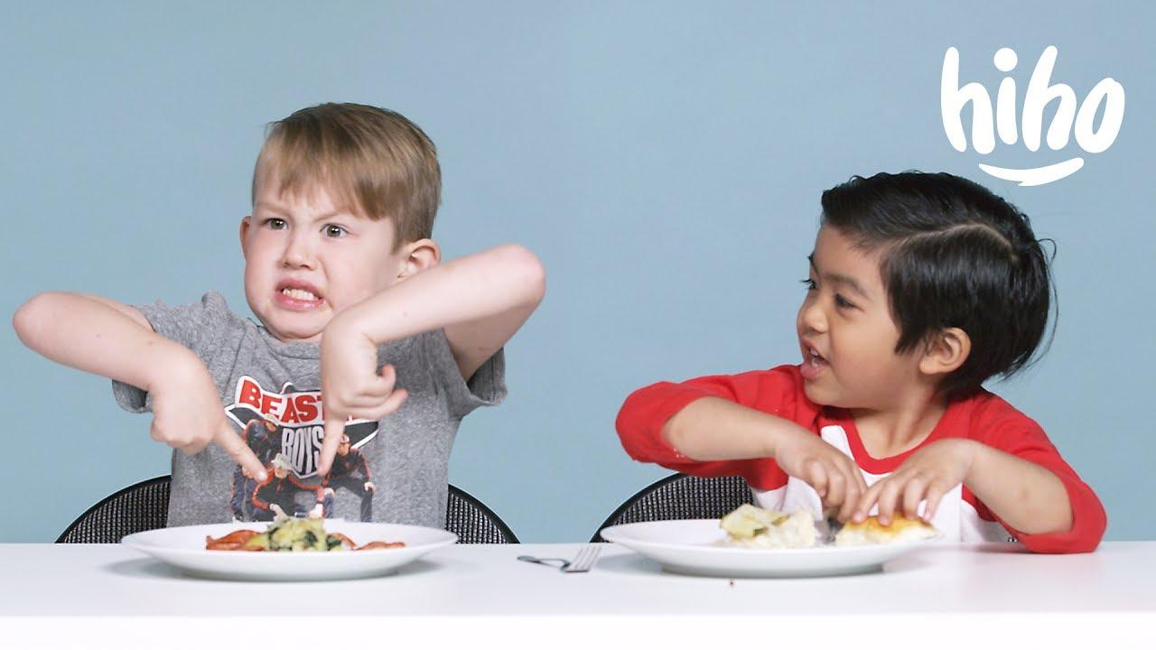 American Kids Try Dutch Food | Kids Try | HiHo Kids - YouTube