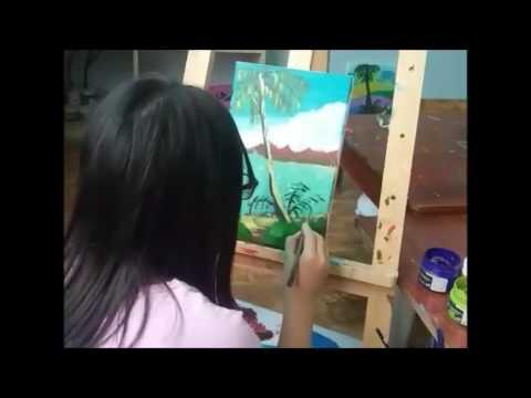Vẽ tranh phong cảnh biển -Lớp vẽ khu vực quận Thanh xuân – Teppi art club