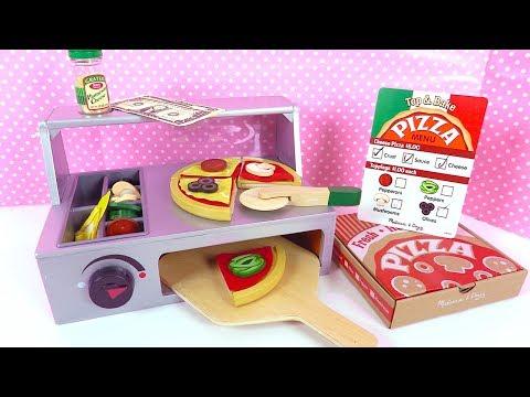 Jeu d'Imitation Pizzeria en Bois à Découper Melissa & Doug Jouet